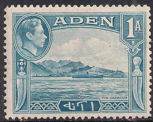 Aden 1939 - 48 KGV1 1 Annas Blue The Harbour MM SG 18 ( L1225 )