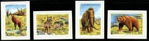 IRELAND SG1275/8 1999 EXTINCT IRISH ANIMALS SELF ADHESIVE MNH