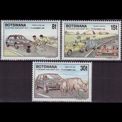 BOTSWANA 1990 - Scott# 487-9 Road Safety Set of 3 NH