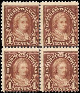 636 Mint,OG,NH... Block of 4... SCV $12.00
