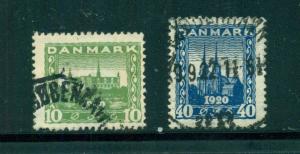 Denmark #159-60 comp used cv $11.50