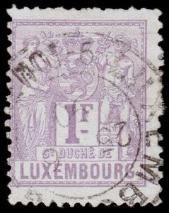 Luxembourg Scott 58 (1882) Used H F, CV $24.00 C