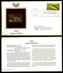 United States 1986 PCS FDC w/ 22 kt gold replica Scott# 2207