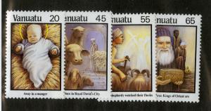VANUATU 461-464 MH SCV $3.50 BIN $1.50 RELIGION