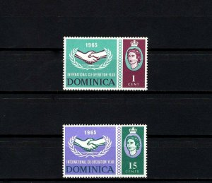 DOMINICA - 1965 - QE II - ICY - COOPERATION YEAR - MINT - MNH SET!