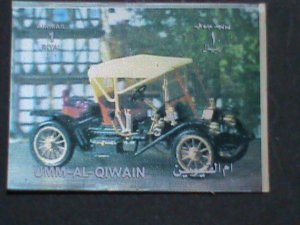 QIWAIN STAMP - LOVELY CLASSIC ANTIQUE CAR- AIRMAIL 3-D STAMP MNH #1