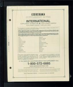 2003 Scott International Postage Stamp Album Supplement Pages L-Z 39B #839P203