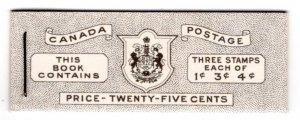 BK47 (English), Queen Elizabeth, Karth Issue, 1953, Canada, 3 panes of 3 each
