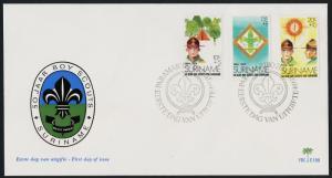 Surinam B208-10 on FDC - Scouts, Jamboree Emblem