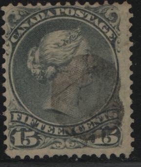 Canada, 30A, USED,  1870-89 Queen Victoria