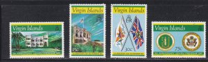 Virgin Islands # 313-316, Government House, Flags, NH, 1/2 Cat.