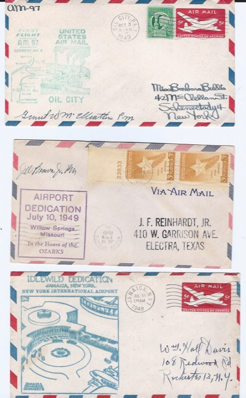 6 AIRPORT COVERS RARE AND AT A LOW PRICE!