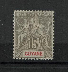 French Guiana SC# 49 Mint Hinged / Most Original Gum (~60%) Perf 14x13.5 - S3423