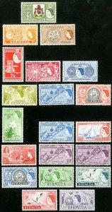 Bermuda Stamps # 143-62 MLH VF Scott Value $110.00