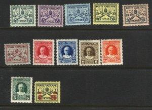 Vatican City #2-12,14   Mint NH VF  1929 PD
