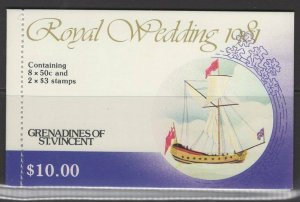 GRENADINES OF ST.VINCENT SGSB5 1981 ROYAL WEDDING MNH