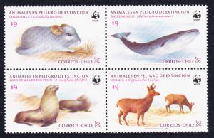 Chile WWF Conservation in Chile 4v in block 2*2 type 1 SG#993-996 MI#1066-1069