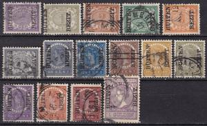 Netherlands Indies #63-7, 69-74, 76-9 F-VF Used CV $23.25  (A19845)