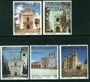 MEXICO C627-C631, Art and Science (Series 8).  MINT, NH. F-VF.