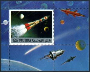 Fujeira Bl.102-102 Michel,MNH. History of Space exploration,1972.
