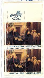 1694 Mint,OG,NH... Zip Block of 4... SCV $1.25