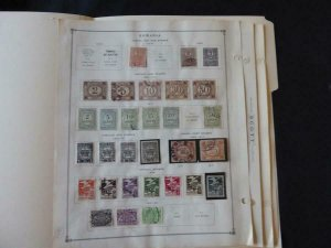 Romania Postage Dues Stamp Collection many on Scott Intl Alb Pgs