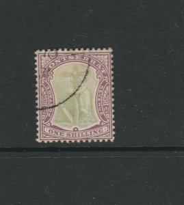 Montserrat 1904/8 MCCA 1/- FU SG 30