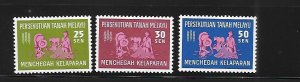 Federation of Malaya 1963 FAO Freedom from Hunger Sc 111-113 MH A1132