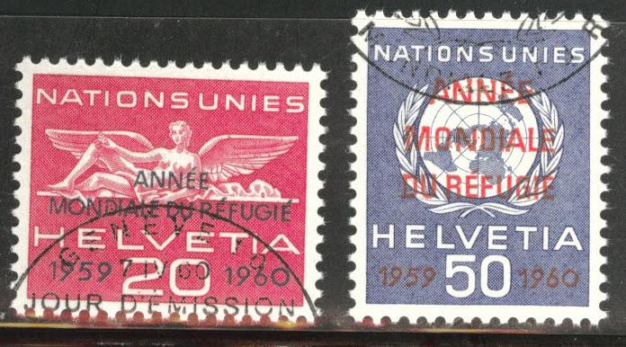 Switzerland Scott 7o31-7o32 Used
