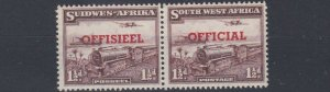 SOUTH WEST AFRICA  1950 - 51   S G 025  1 1/2D   PURPLE BROWN   MNH  NO2