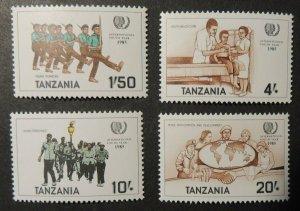 Tanzania 1985 youth year children scouts globe health