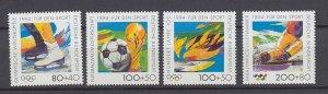 J29732, 1994 germany set mnh #b758-61 sports