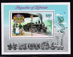 LIBERIA STAMP 1973 Airmail - Historical Railways 1895-1905 MNH S/S