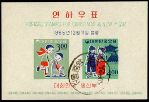 Korea - Cancelled Souvenir Sheet Scott #490a (New Year: Children)