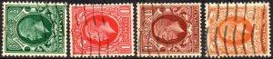 1934 Sg439a/442b Photogravure Block Cypher Watermark Sideways Fine Used Set of 4