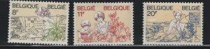 Belgium 1139- 1141 (3) set   MNH, 1983 Homage to woman