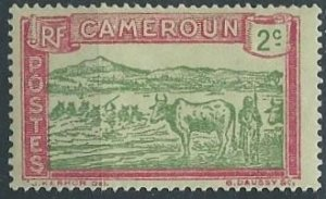 Cameroun 171 (mh) 2c cattle at Sanaga River, rose & grn (1925)