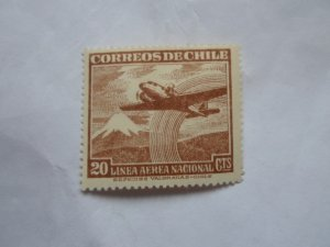 CHILE STAMP IN FINE CON. MINT HINGE MARKS # 26