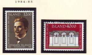 Iceland Sc 600-1 1984 National Gallery 100 yrs stamp set ...