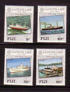 Fiji Sc 509-2 1984 Lloyds List stamp set mint NH