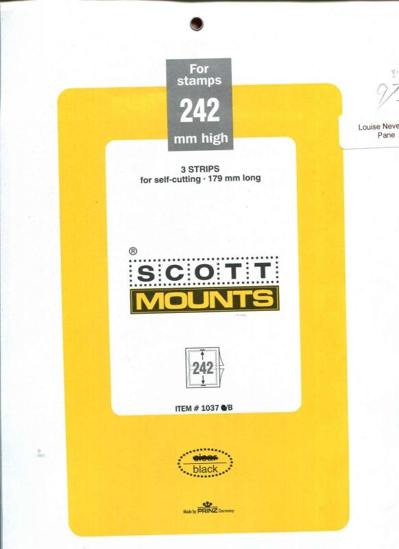 242X179  Package of 3 Scott Black Mounts 242H x 179L Louise Nevelson & Others