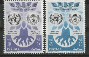 Libya # 187-88  World Refugee Year   (2)  Mint NH