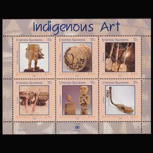 UN-NEW YORK 2006 - Scott# 897 S/S Indigenous Art NH