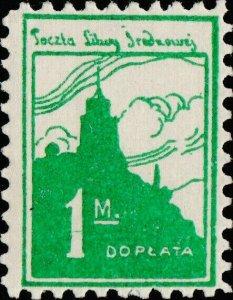 CENTRAL LITHUANIA / MITTELLITAUEN - 1921 Mi.P.2.A 1M Mint* - ref.916e