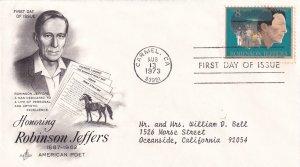 1973, Honoring Robinson Jeffers, Art Craft, FDC (E11365)