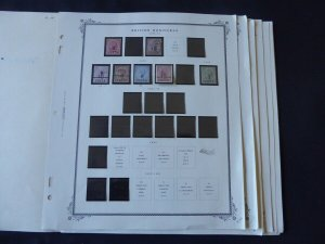 British Honduras 1888-1972 Stamp Collection on Album Pages
