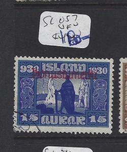 ICELAND   (PP1607B)   15 A   OFFICIAL SC O57   VFU