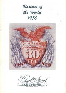 Rarities of the World 1976, Robert A. Siegel Auctions Sal...