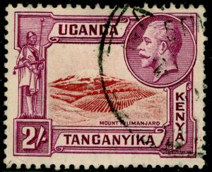 KENYA UGANDA TANGANYIKA SG119, 2s lake & purple, USED.