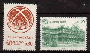 United Nations Geneva 129-30 MNH ILO, Turin Center, U Thant Pavilion